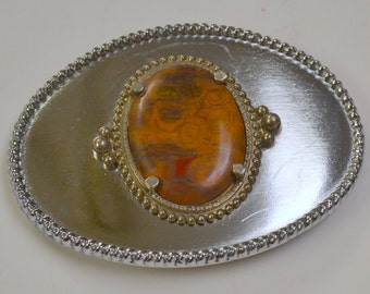 Silver and Jasper Belt Buckle