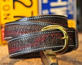 """The Thunders Redux - a 1.75"""" wide custom leather belt"""