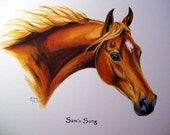 Custom Horse Portraits LOVINGLY HANDPAINTED watercolor painting of your horse 9x12