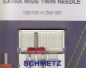 Sewing machine needles Schmetz Twin, Double, size 80,/100 extra wide