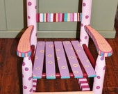 Handpainted Rocking Chair in Purple