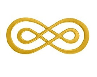 Vermeil Links Connector, Double Infinity,  10 PCS,  24k Gold Vermeil,  23x10mm, thickness1.5mm