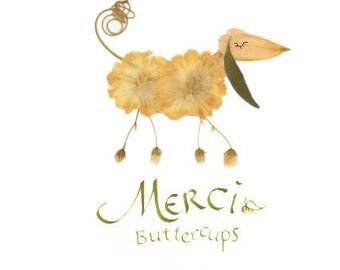 MERCI DOG card