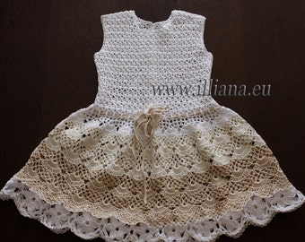 Crochet dress. PDF Pattern . No 84