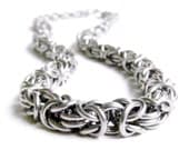 Chainmaille Necklace - Byzantine Pattern Chain