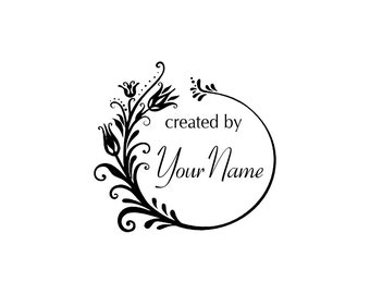 Personalized Custom Made Name Unmounted Rubber Stamps C26
