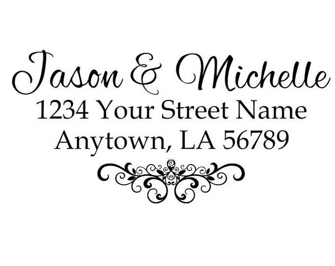 Personalized Self Inking Return Address Stamp - self inking address stamp - Custom Rubber Stamp R186