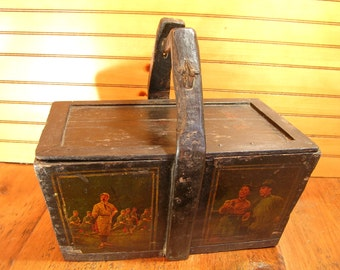 Vintage Chinese Storage Tote Box