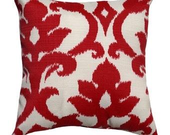 Red Outdoor Throw Pillow - Richloom Basalto Cherry Decorative Throw Pillow - Free Shipping