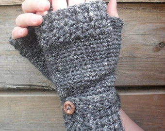 Crochet Pattern for Fingerless Mitts with Mary Jane Button Band Ribbed mitts Art of zen crochet 2 in 1 crochet pattern