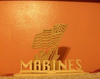 Wooden marines display