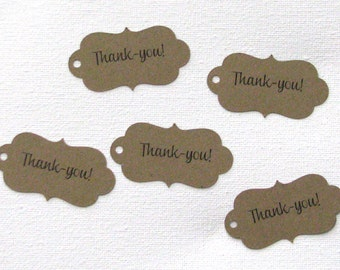 Thank you gift tags set of 30 in any color