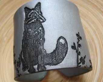 SALE Silver Fox Cuff Bracelet, Jewelry by theshagbag on Etsy