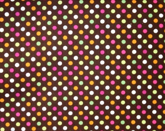 Handpicked Dots in Chocolate by Camelot Cottons  - 1 Yard