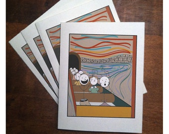 Rollerscream Note Cards (set of 4)