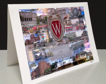 Badger Country 5 x 7 Greeting Card - University of Wisconsin-Madison, Madison WI
