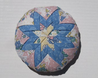 Pincushion in Folded Star Quilt Pattern