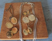 vintage and antique lot of lockets / vintage necklace