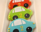 Car Cookies- 12 Decorated Sugar Cookie Favors