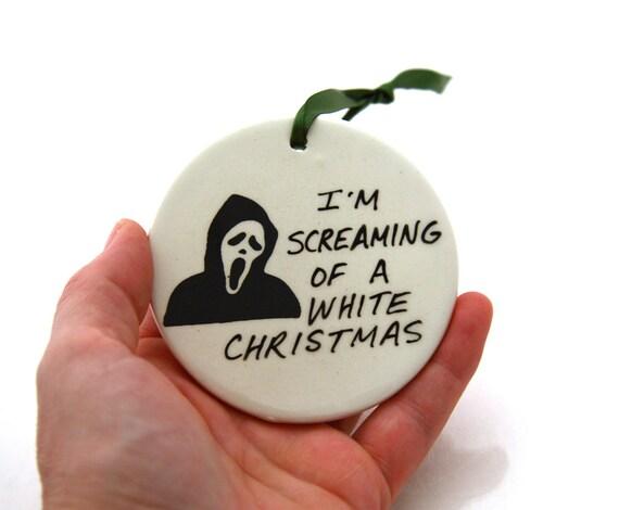 Scream Christmas Ornament ,  Funny Horror Goth