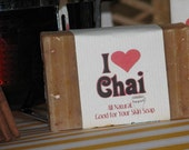 CHAI SOAP, smooth chai spices with whole milk, deliciously scented bath soap
