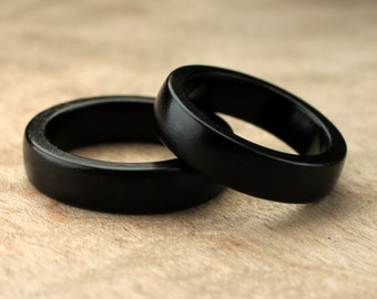 Custom Matching Ebony Wood Rings - 5mm