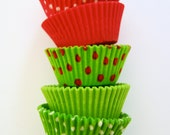 Assorted Lime and Hot Pink Cupcake Liners (50 Liners)