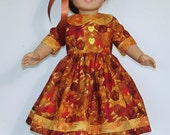 Fall Dress designed for American Girl Dolls Felicity or Elizabeth  No. 556