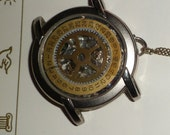 My Stars / Altered Art Steampunk Watch Necklace / Repurposed Vintage Pieces