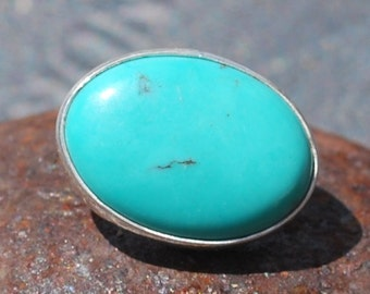 Chinese Turquoise Cabochon Button