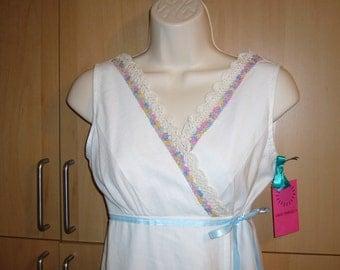 Handmade  EMBROIDERED Pillowcase Sheet Dress, SZ Small
