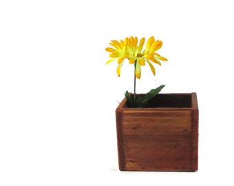 Small Flower Box - Rustic Planter  - Home and Garden Decor