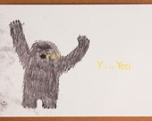 Y is for Yeti Card