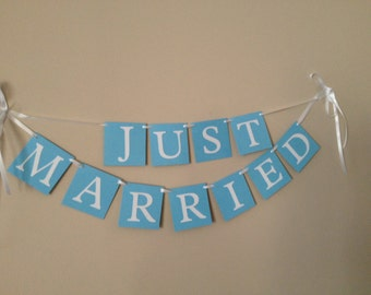 Just Married Wedding Banner