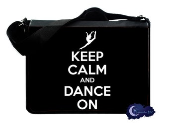 Keep Calm and Dance On Messenger and Laptop Bag