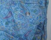 Vintage Liz Claiborne Denim Paisley Dress 80s 90s Petite S
