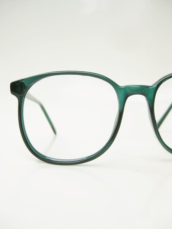 Emerald Green Eyeglass Frames : Vintage Green Eyeglasses 1970s Oversized Round by ...
