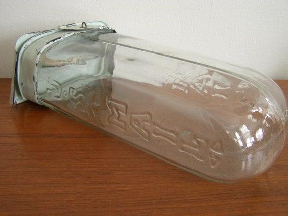 Please Write Antique U S Mail Glass Mailbox Original Metal