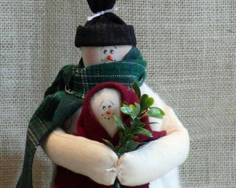 Snow Couple Snowmen