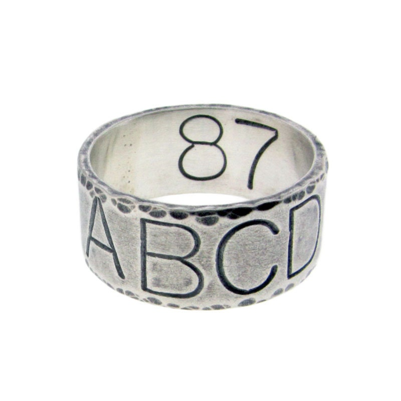 custom duck band wedding ring personalized sterling silver