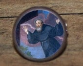 St Saint JOSEPH CUPERTINO Tie tack or Cuff links or Ring or Pendant or Brooch