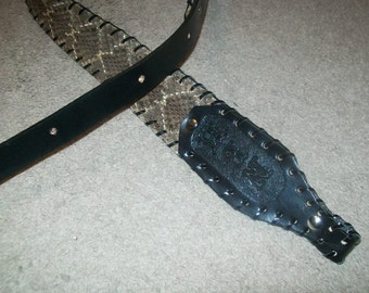 Diamond Back Rattle Snake Skin Rifle Sling with or without Monogramming