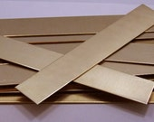 "Raw Brass Sheet, Bracelet Cuff Blanks 6"" x 1"" 18ga Package Of 12 New Lower Price"