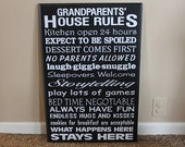 Grandparents house rules vinyl lettering only