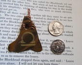 Item 2299 Tiger's Eye Libra Copper Wire Wrapped Pendant