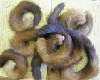 Vintage Real Mink Tails For Your Funky Projects from Rustysecrets