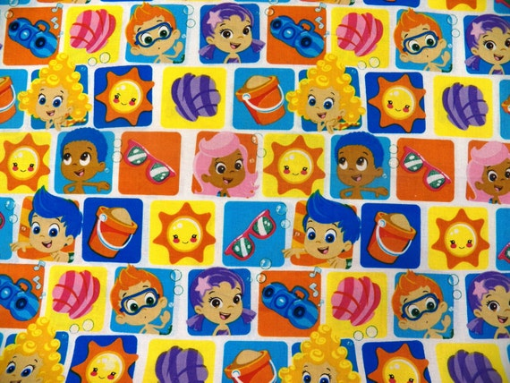 Bubble Guppies Cotton Fabric 6 27 Yards Total
