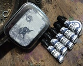 TIME Traveler Artisan Perfume Oil Sample Tins, 5 artisan perfume oils - Jules Verne Tribute - Vegan