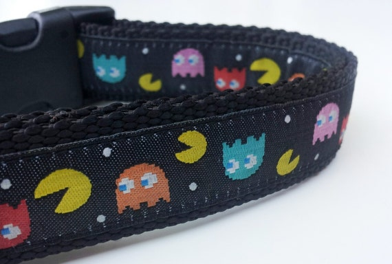 Pac Man Dog Collar - Handmade / Pet Accessories / Adjustable / Video Game / Pet Lover / Gift Idea