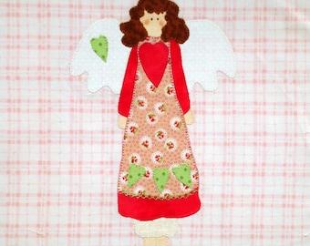 Quilt Block Appliqued Sweet Angel